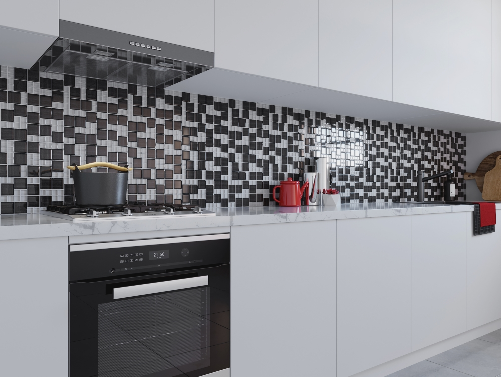 Grey Mix Modular Glass Mosaics | Tile Mountain