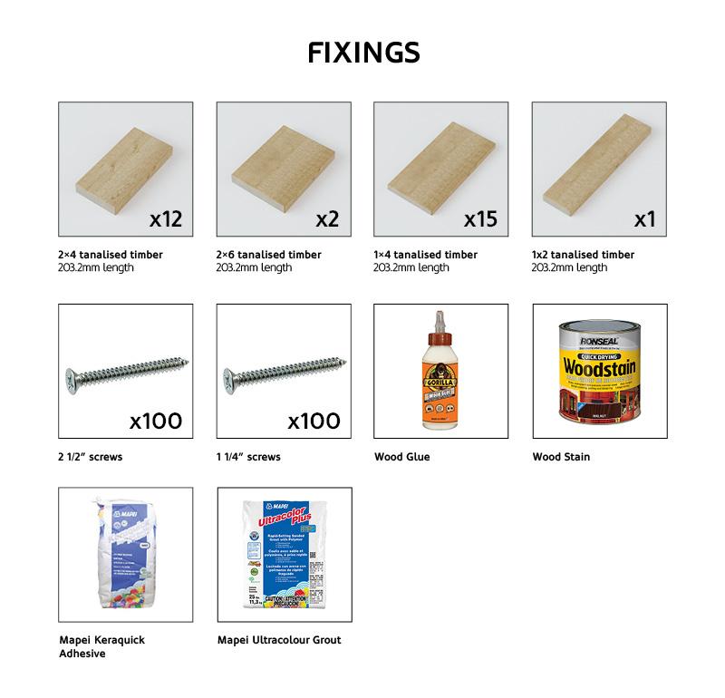 Outdoor Bar Fixings Checklist