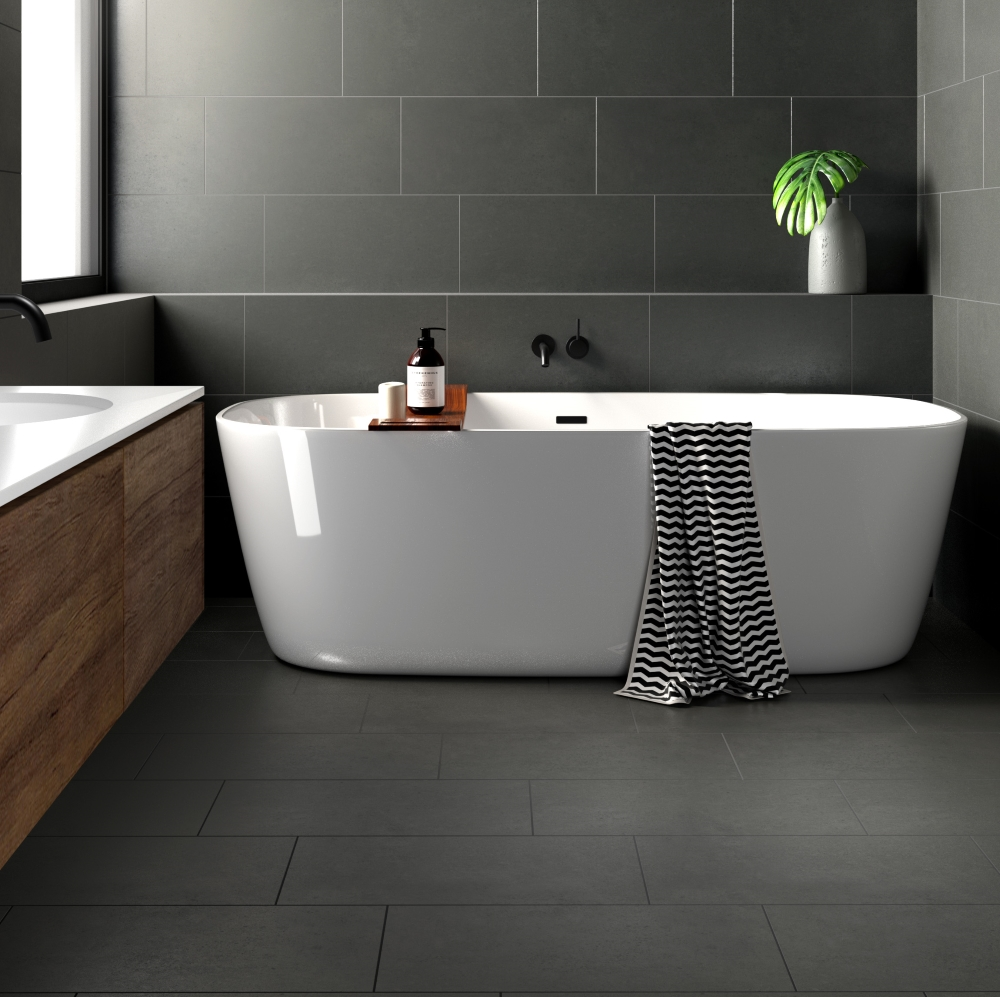 Surface Mid-Grey Lapatto | Tile Mountain