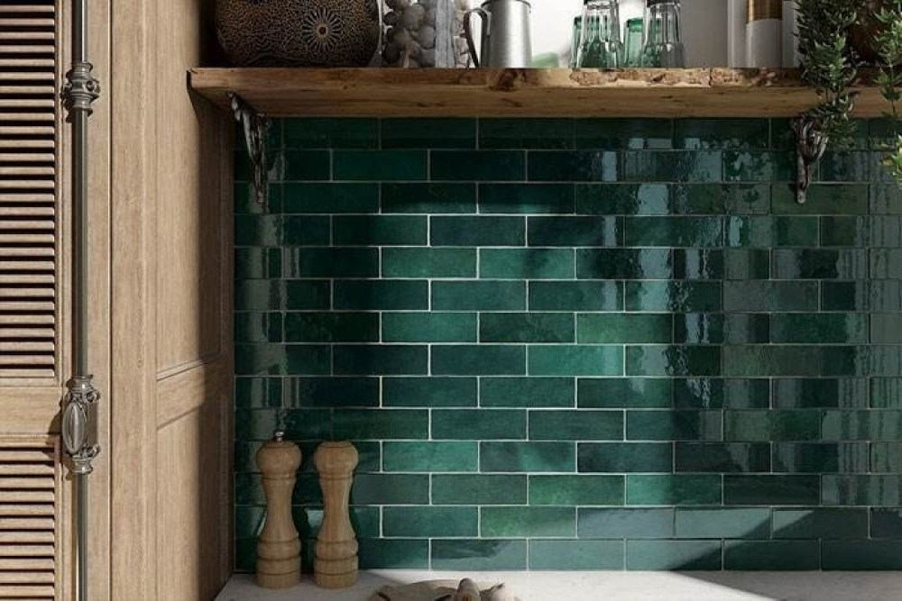 Artesano Moss Green Tiles | Tile Mountain
