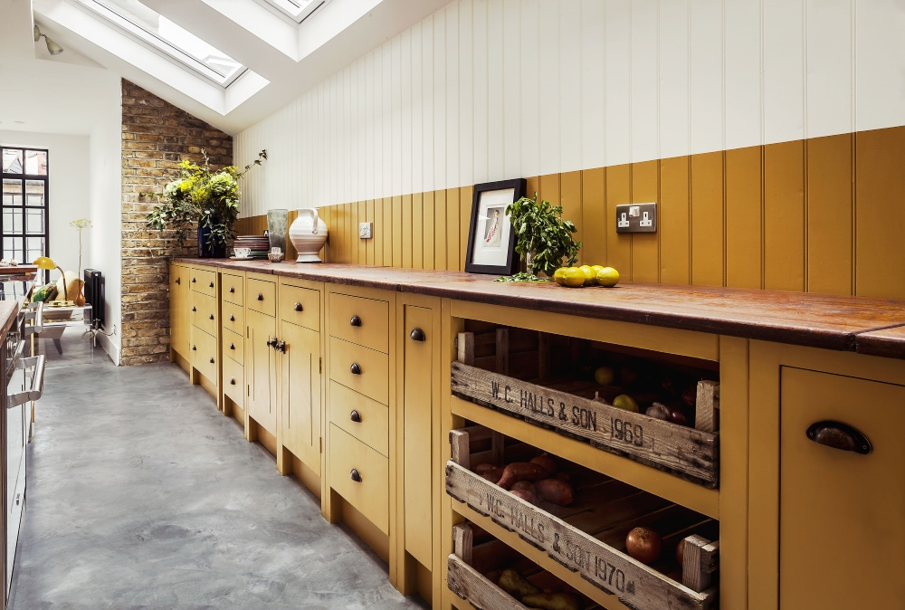 Mustard Yellow Kitchen | British Standard Cupboards