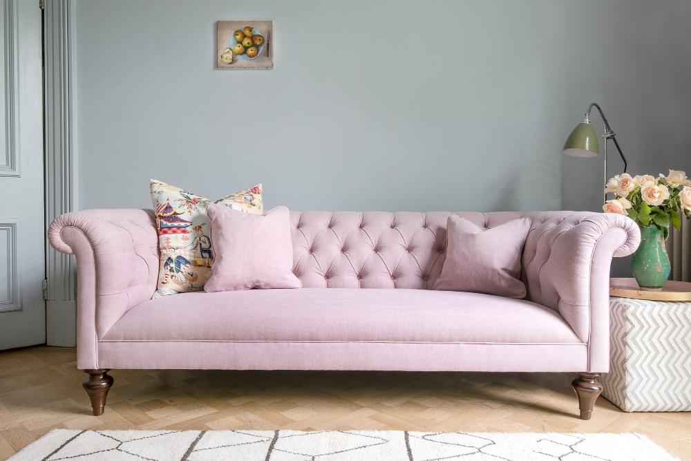 Pink Camden Chesterfield | Sofas & Stuff