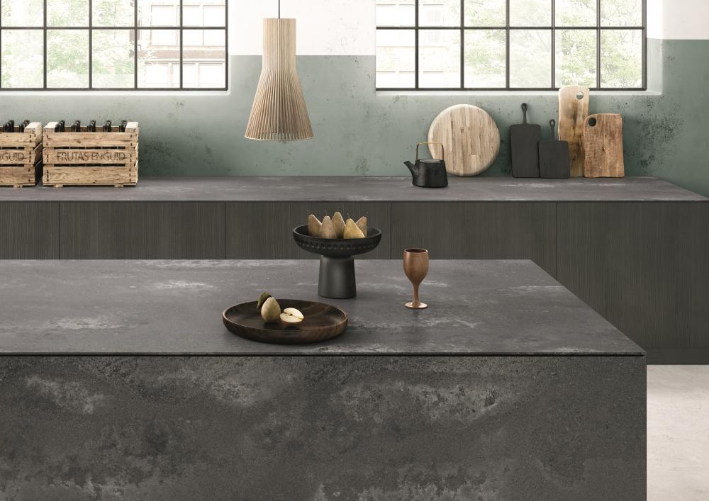 Rugged Concrete Kitchen | Caesarstone