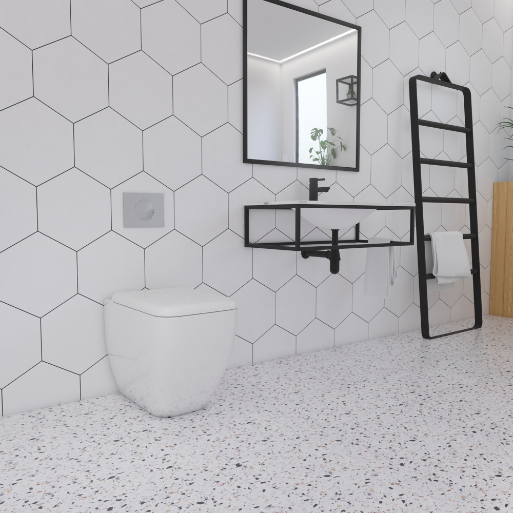 Apollo Hexagon White | Tile Mountain