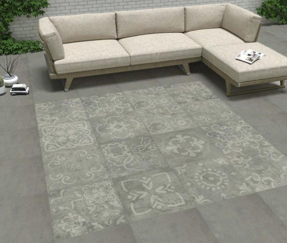 Concretia Grey Decor Outdoor Slab Tiles   Tile Mountain