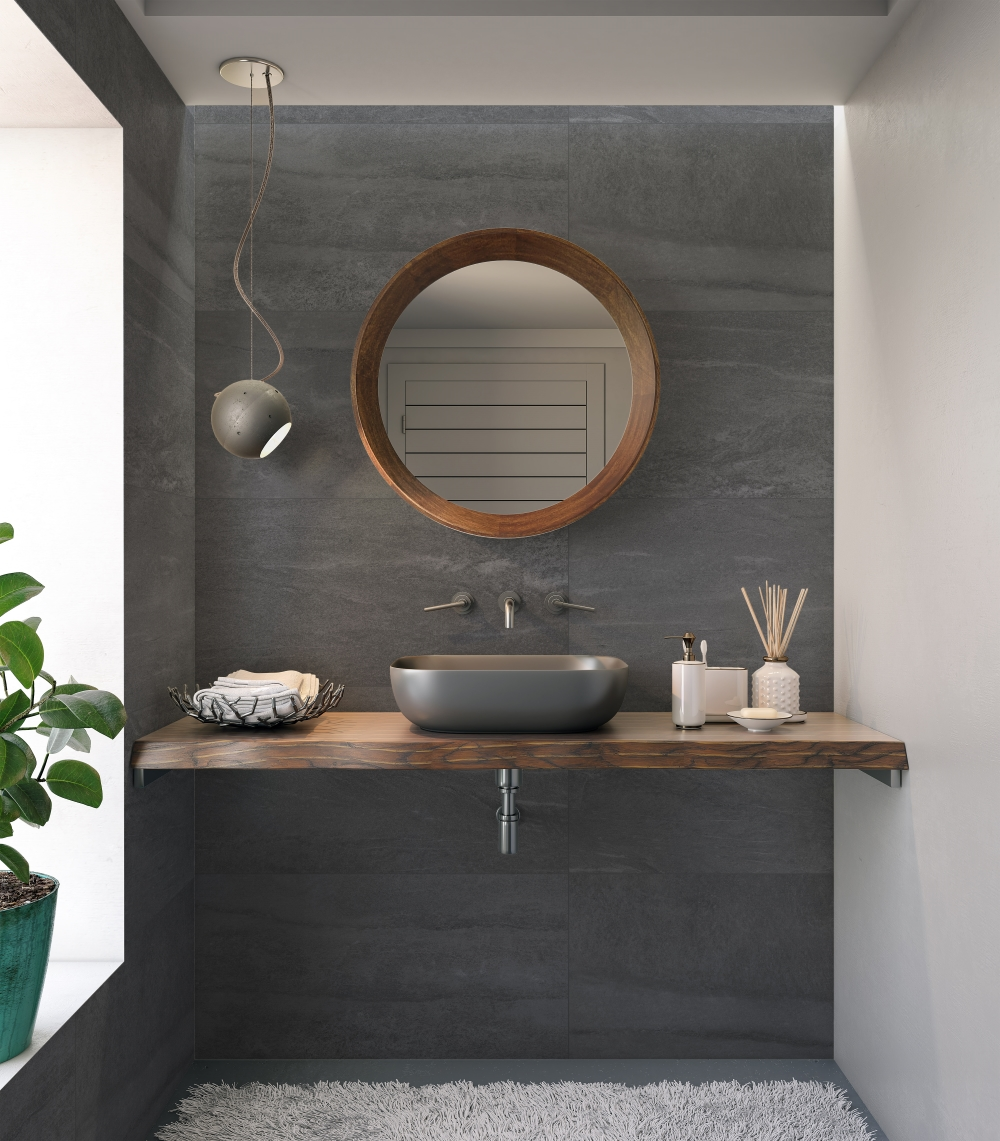 Cliff Grafite Grey Porcelain Wall And Floor | Tile Mountain