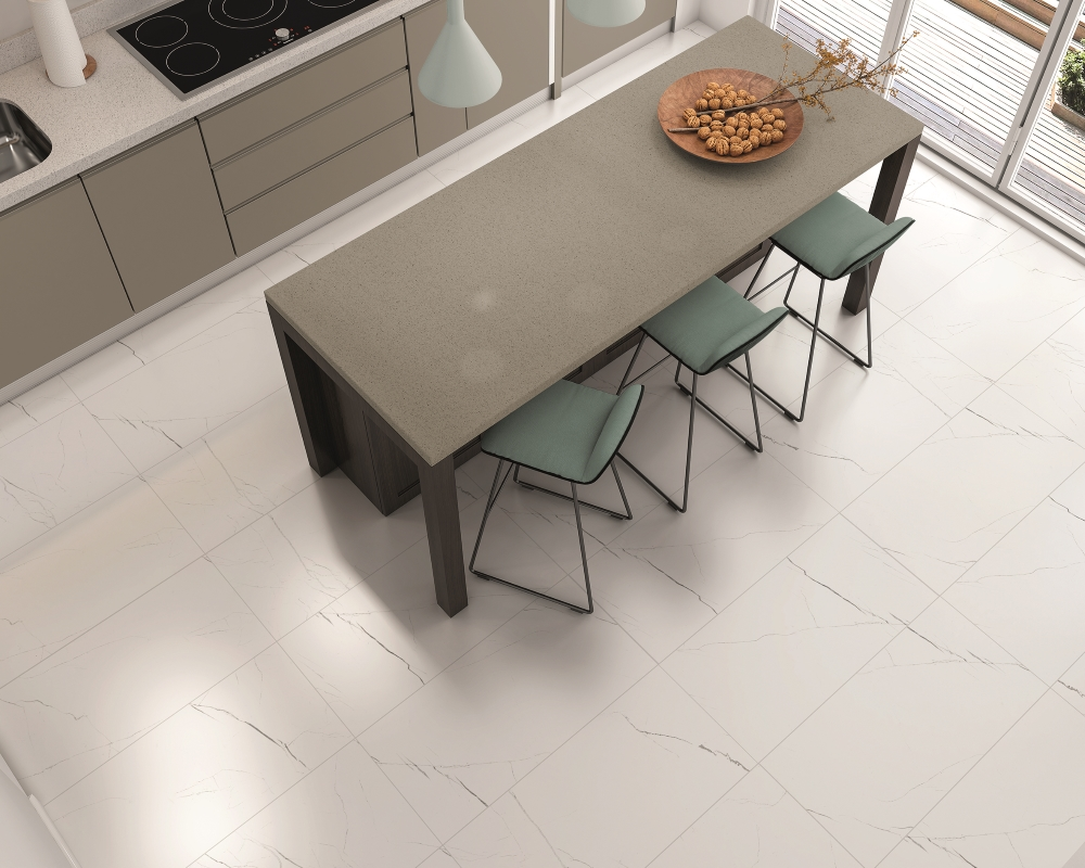 Barbados White Marble Effect Wall and Floor | Tile Mountain
