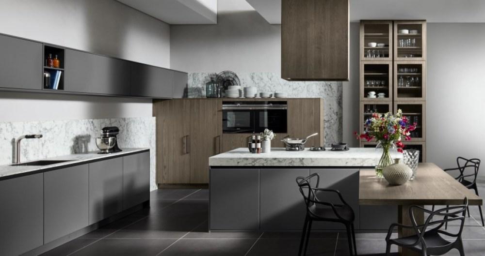 Organic Onyx Grey and Oak Sepia Kitchen   Pronorm
