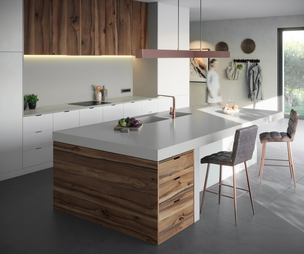 Cincel Grey Silestone from the Sunlit Days Collection   Cosentino