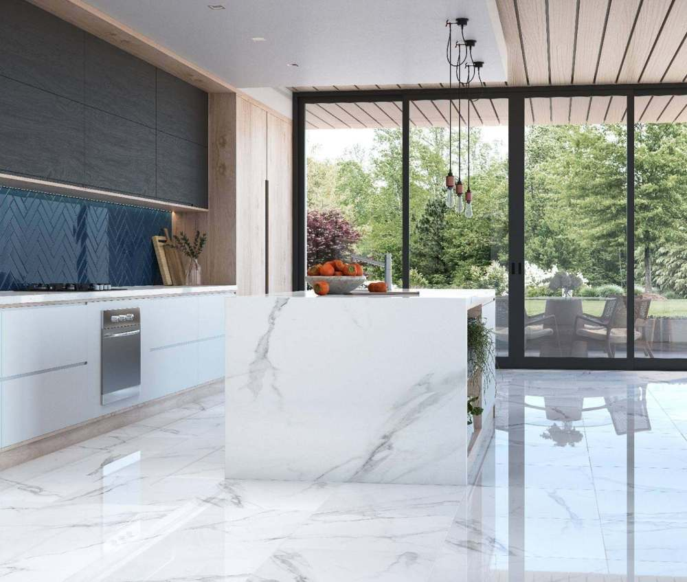 Place White Polished Marble Effect | Tile Mountain