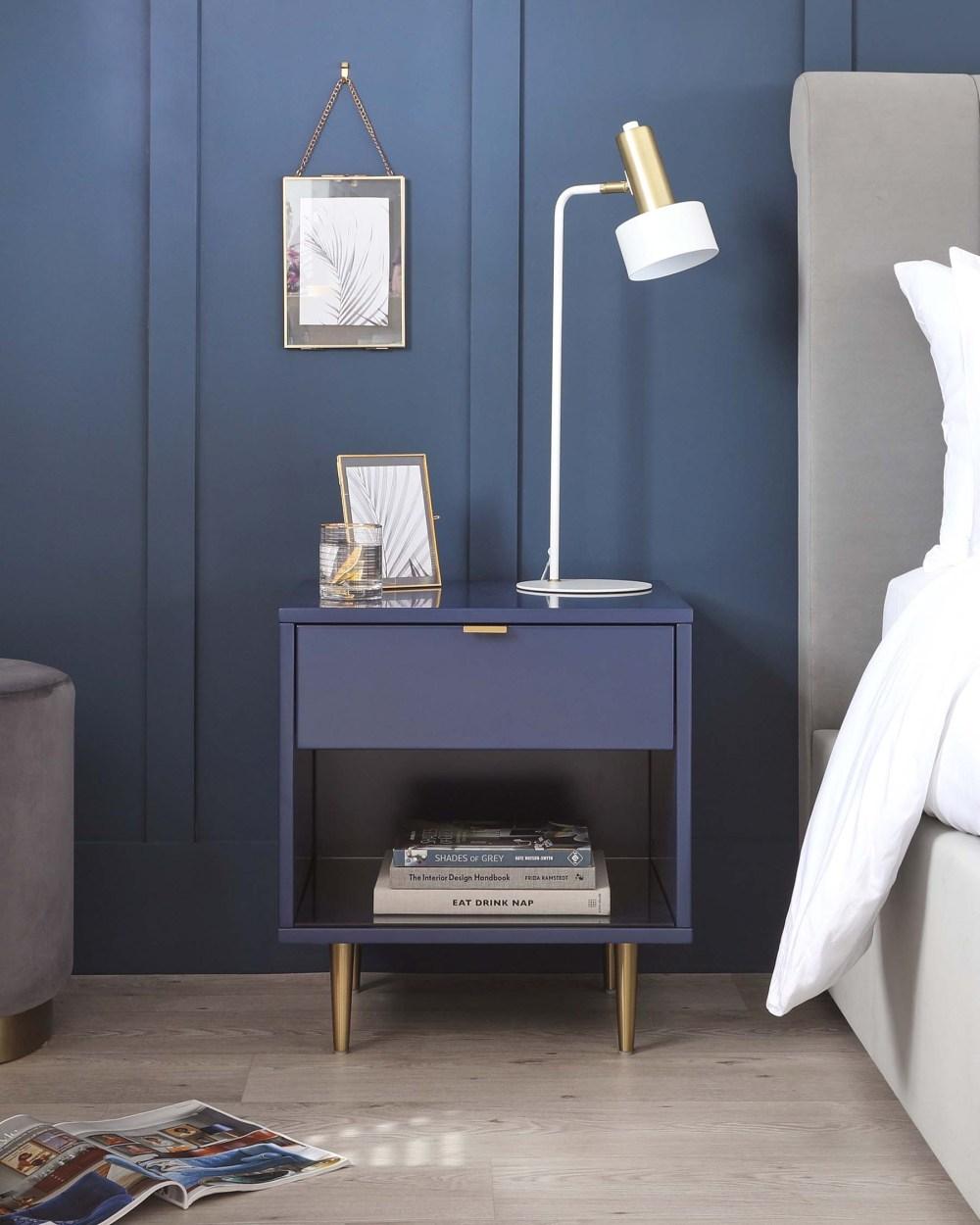 Orson Bedside Table in Blue | Danetti