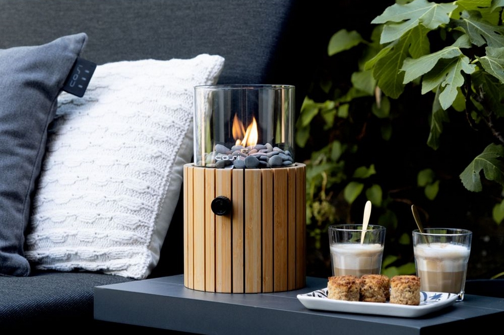Cosi Fires Cosiscoop Timber Frame Fire Lantern | Silver Mushroom