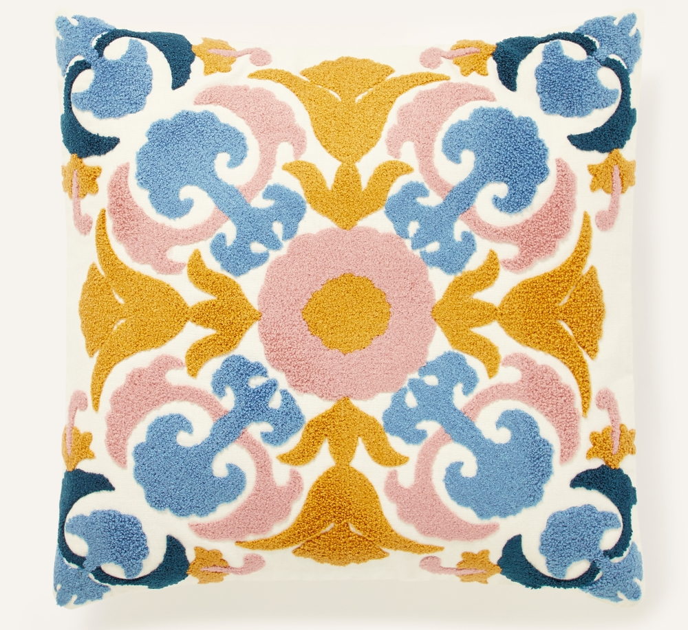 Bold Embroidered Cushion   Monsoon