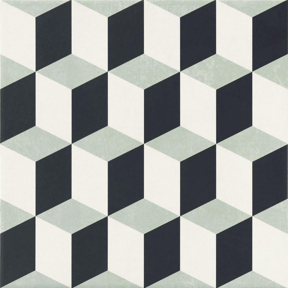 Hanoi Cube Grey Floor | Tile Mountain