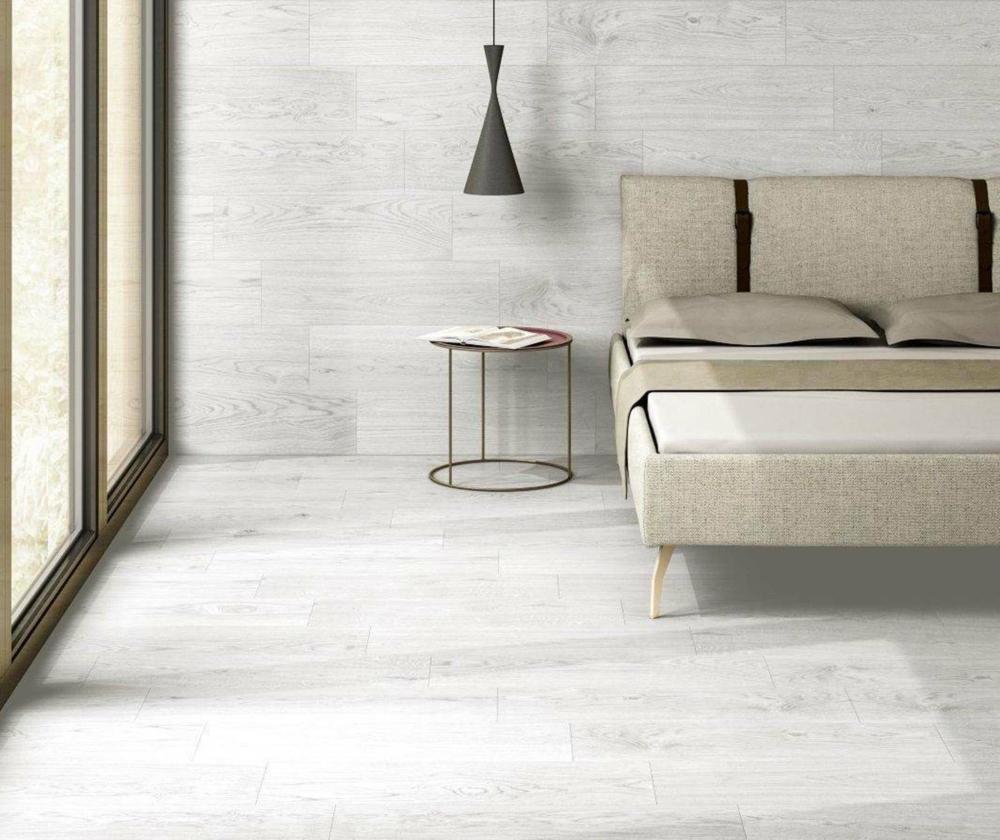 Atlantis White Wood Effect Wall and Floor | Tile Mountain