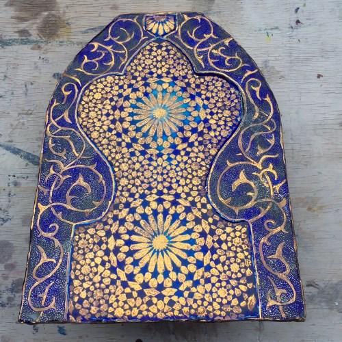 Tile artisan Boris Aldridge | Lustreware geometric tile