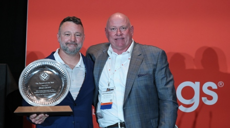 Brad Denny, Vice President of Nichols Tile and Terrazzo of Joelton, Tenn., was honored as the NTCA Tile Person of the Year