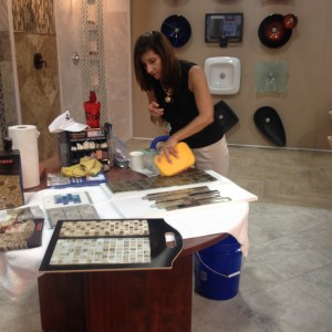 how to apply crystal glass grout jean