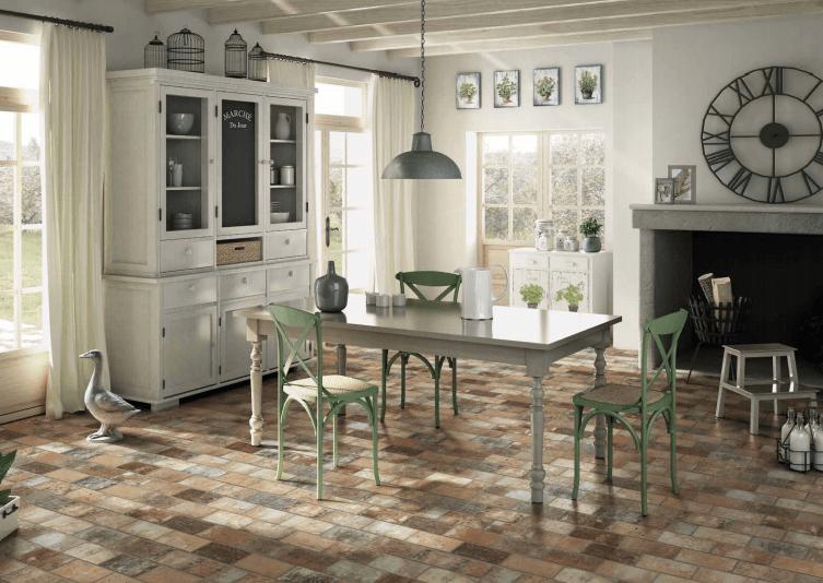 brick floor tile collection creates a