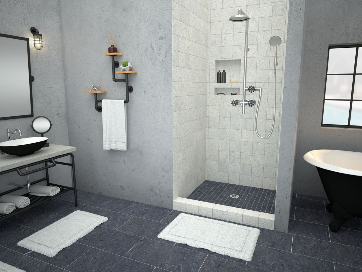 redi base shower pan 48 x 48 center