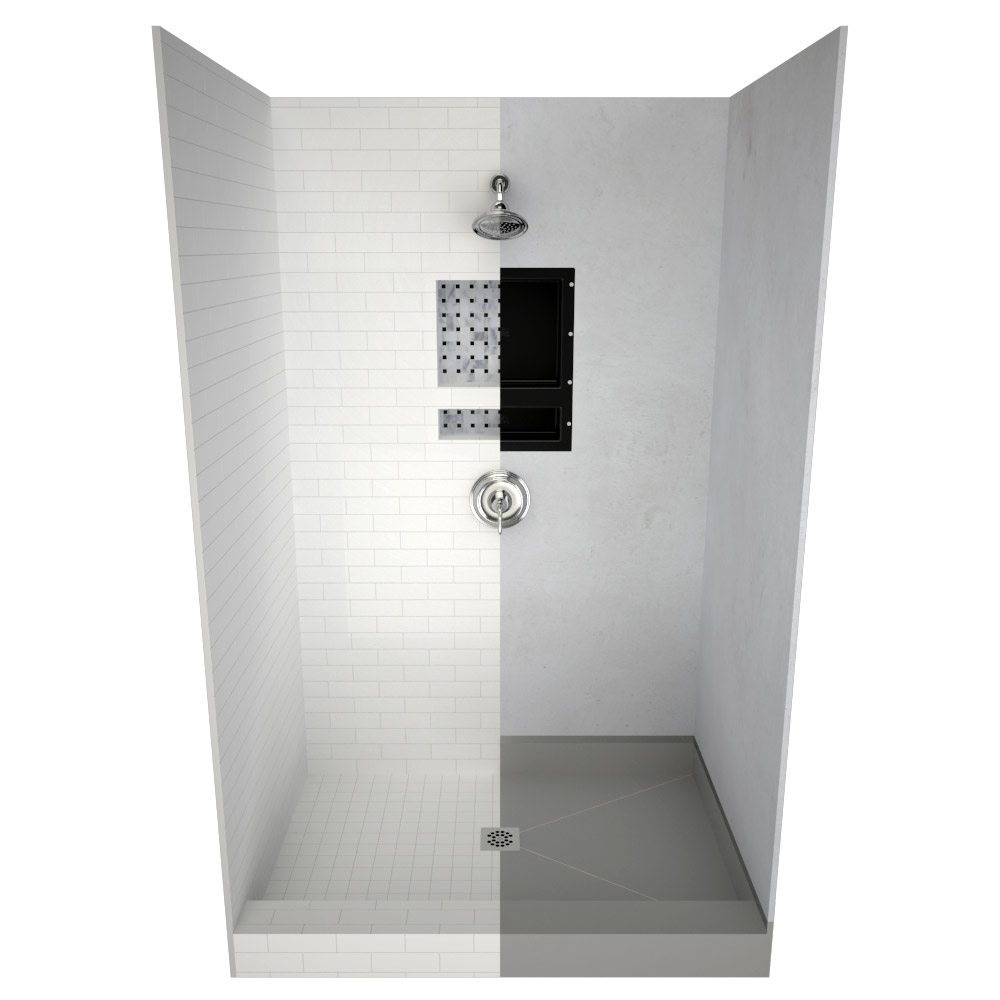shower pan replacement bases stand up
