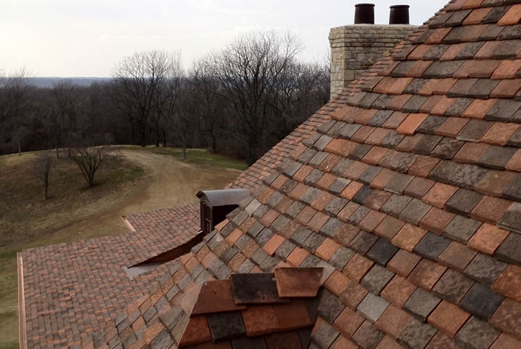 new hand finished clay roof tile