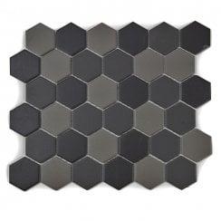 hexagon matt tiles