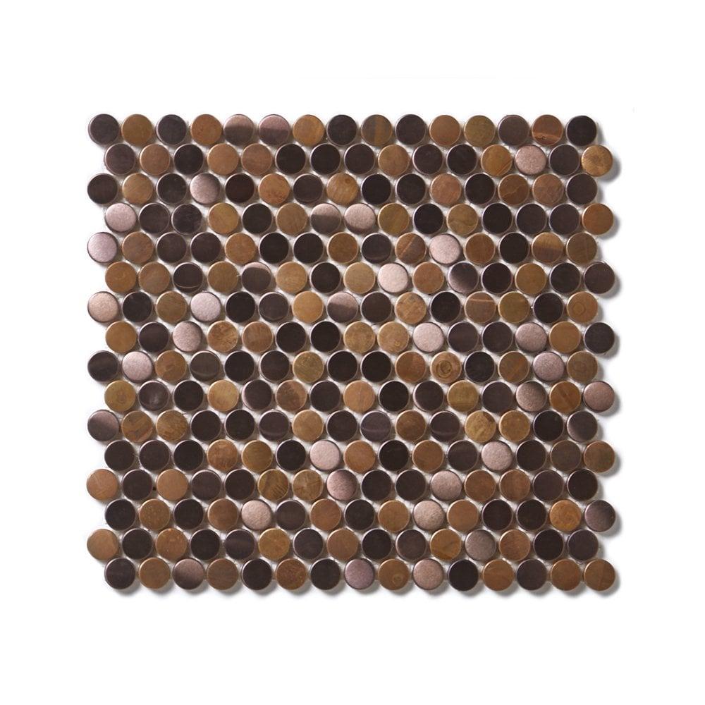 victorian penny copper 29 5cm x 31 5cm mosaic tile
