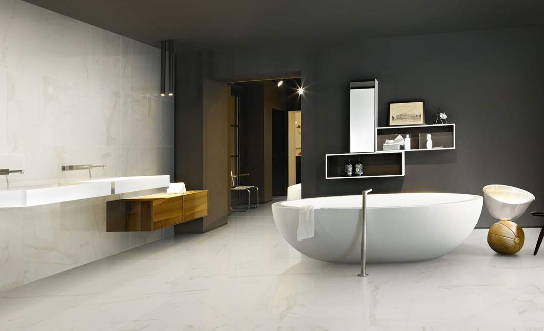 white calacatta marble tiles from tiles ie