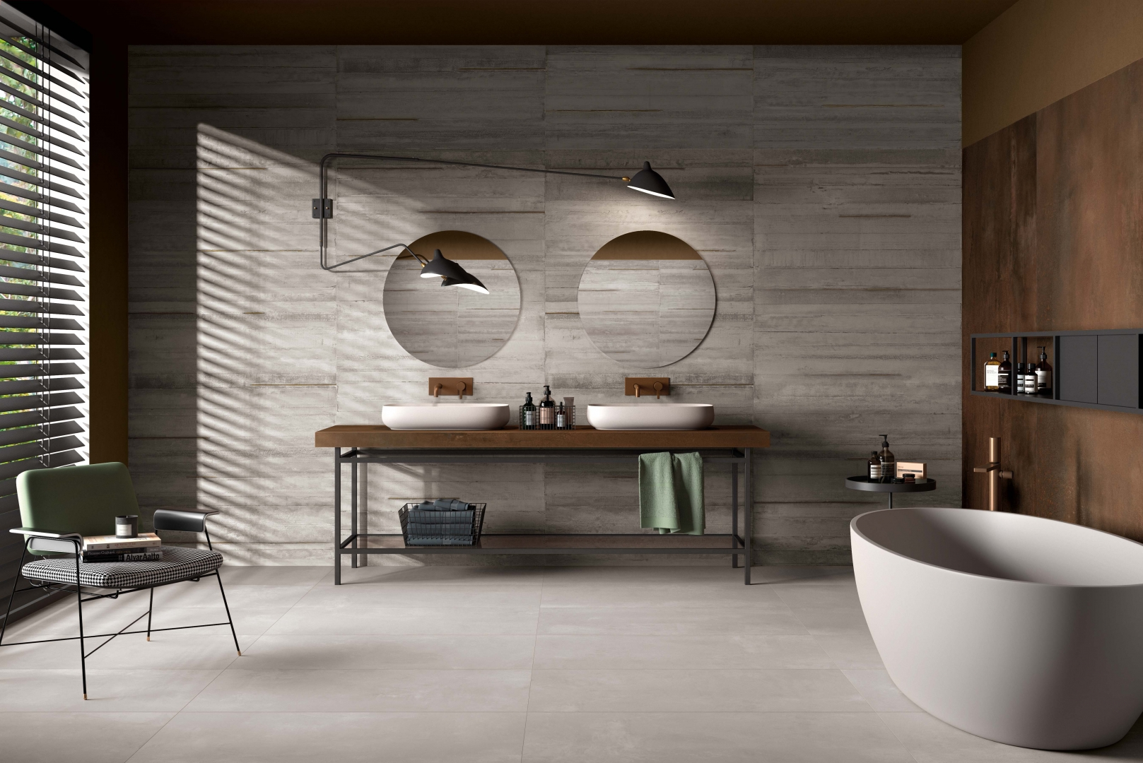 cement style tiles the flow