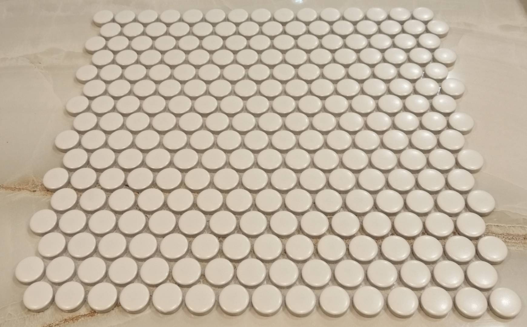 white penny round mosaic tiles ireland