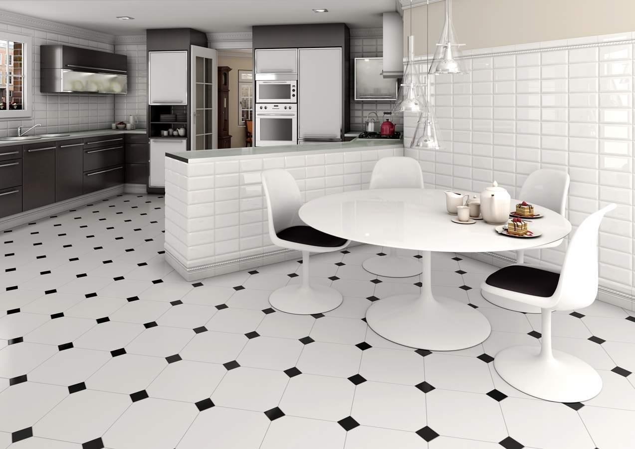 black and white floor tiles classic