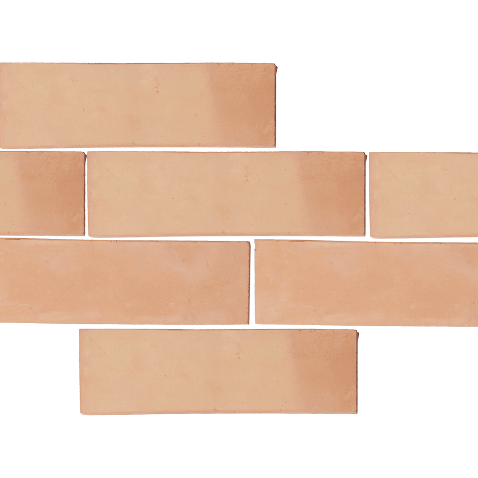 mexican terracotta subway wall tile