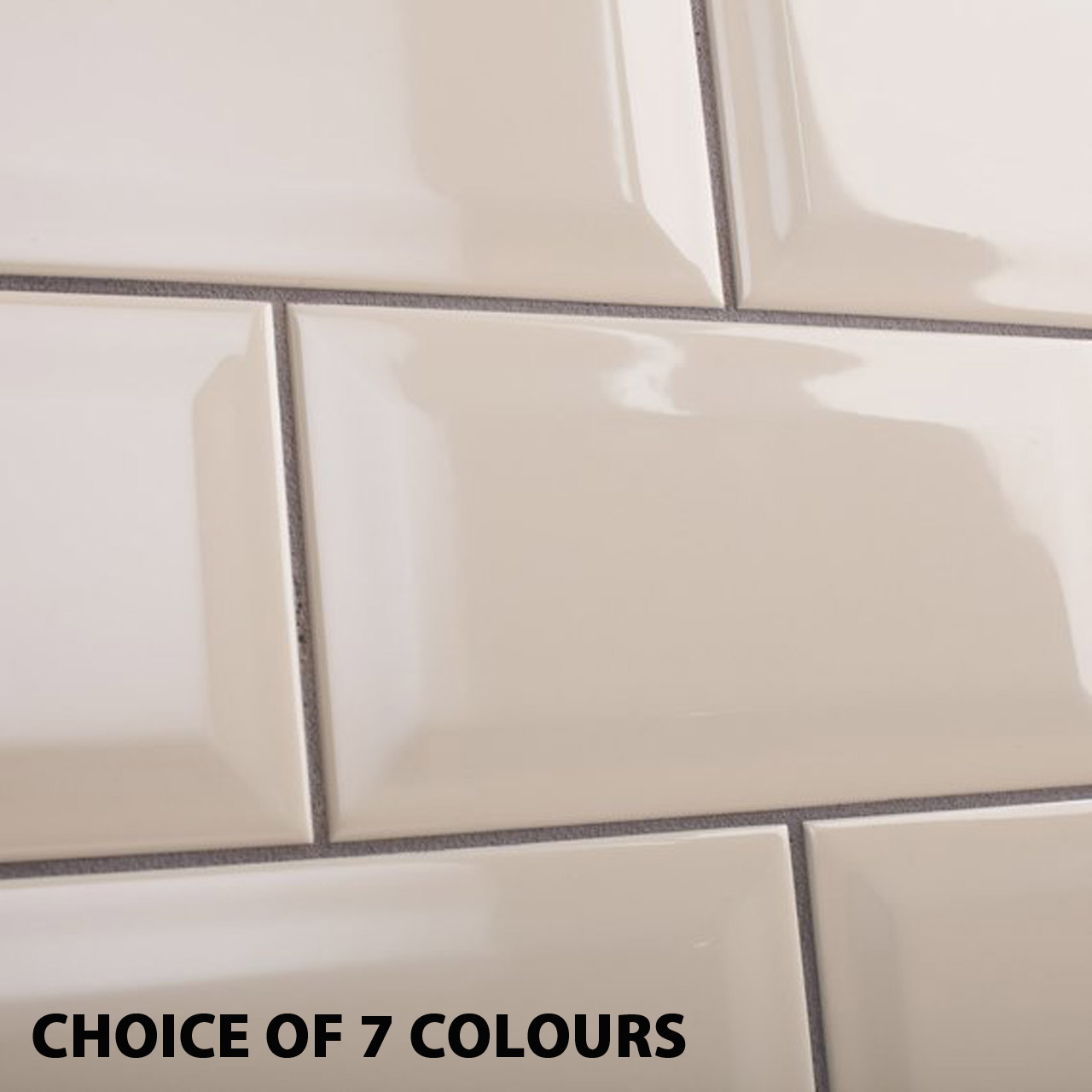 5m 200x100mm metro bevel wall tile bundle inc adhesive grout and spacers 6 colour options