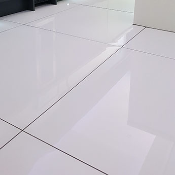 supreme white polished porcelain tiles