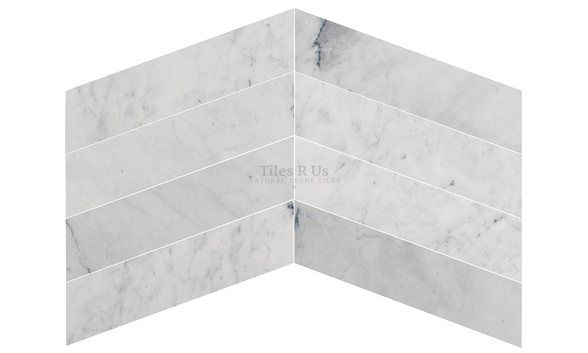 marble polished carrara white chevron