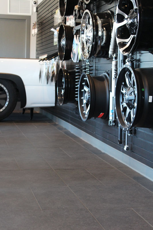 Strong porcelain tile at Raven Truck & Accessories
