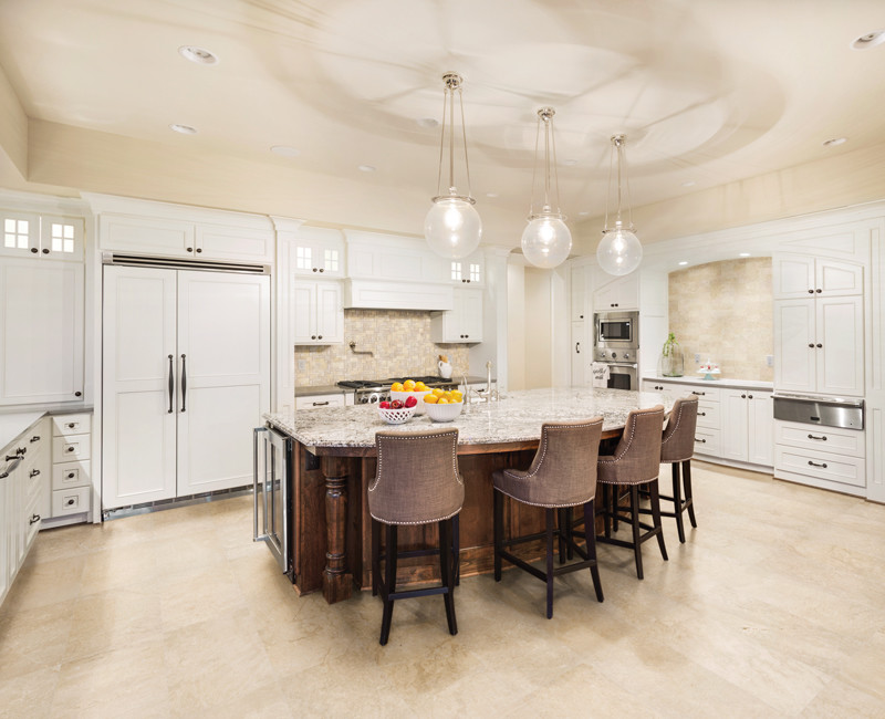 Royal Crema Marble installed in a kitchen