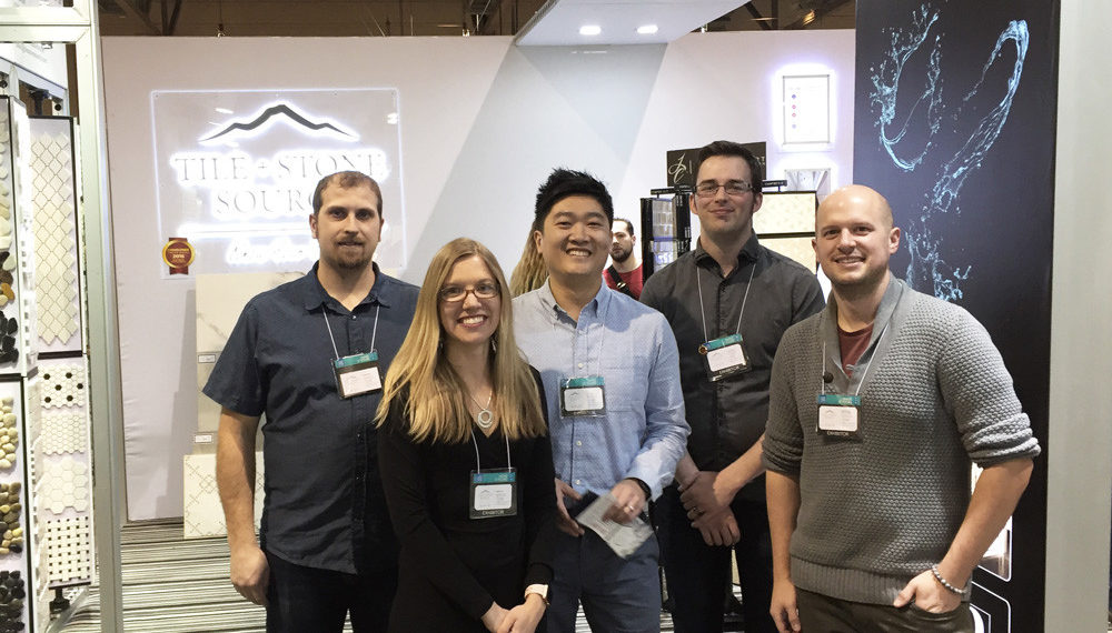 Tile and Stone Source staff at the home show