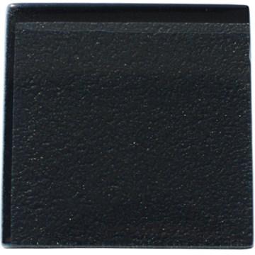Metallic black glass kitchen tile