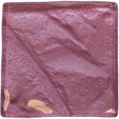 undulating pink glass tile