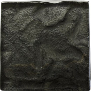 Dark black glass tile