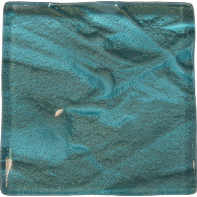 Lagoon turquoise kitchen glass tile