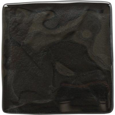 Reflections Graphite black glass tile