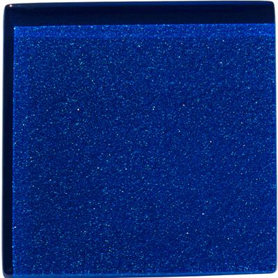 Deep blue metallic glass tile