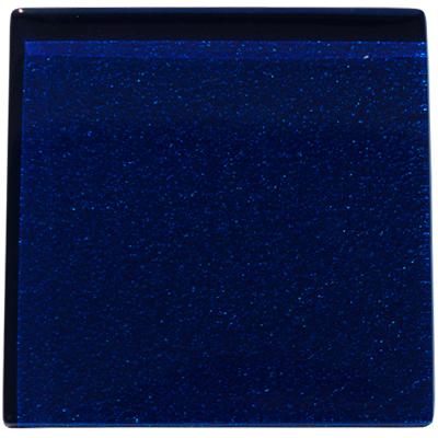 Dark blue metallic glass tile