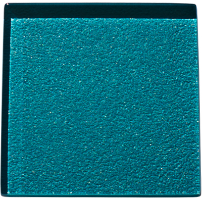 Lagoon coloured glass tile