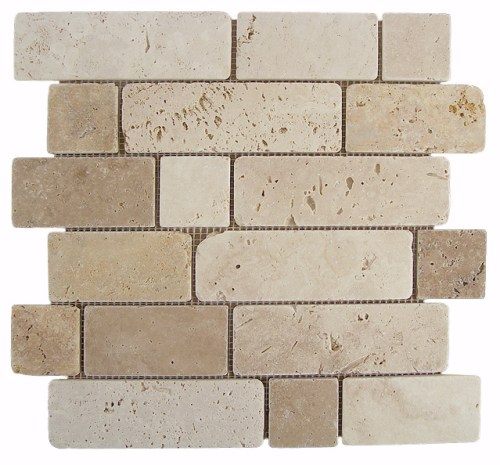 Mosaico Travertino Brick-0