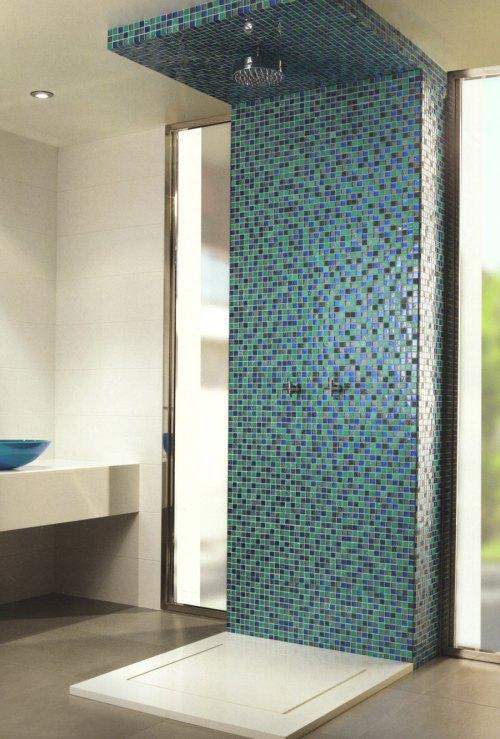 Blue Mosaic Shower