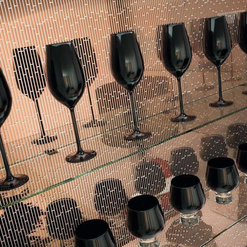 Copper glass tile strips